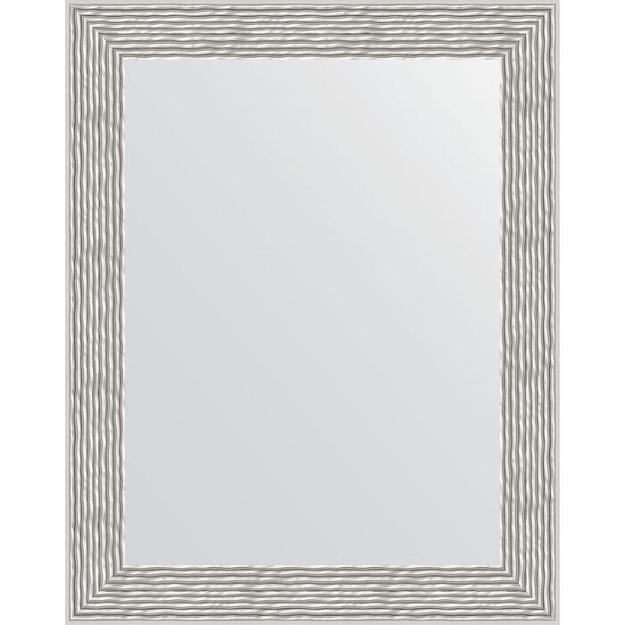 Зеркало в багетной раме Evoform Definite 38x48 см, волна алюминий 46 мм (BY 3006)