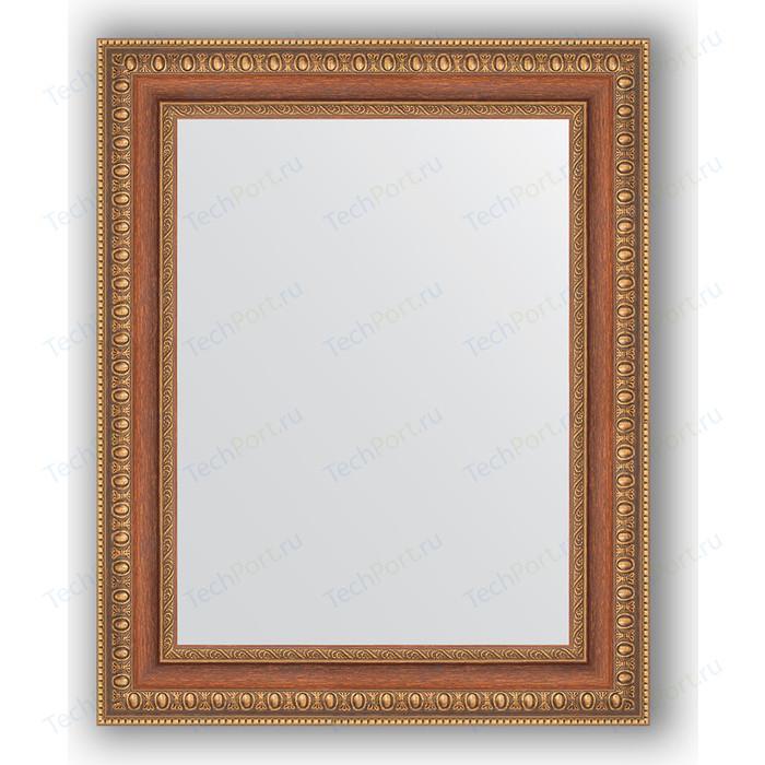 Зеркало в багетной раме Evoform Definite 41x51 см, бронзовые бусы на дереве 60 мм (BY 3011)