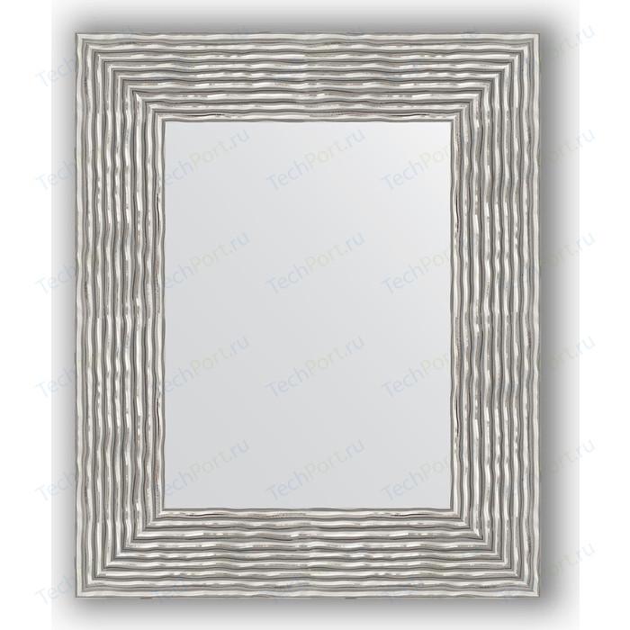 Зеркало в багетной раме Evoform Definite 46x56 см, волна хром 90 мм (BY 3025)