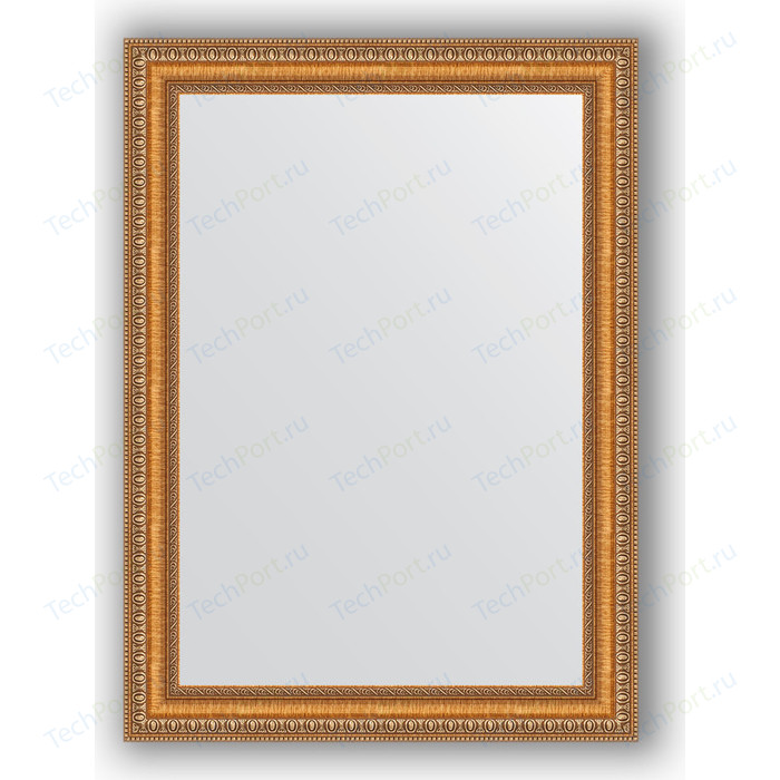 Зеркало в багетной раме поворотное Evoform Definite 55x75 см, золотые бусы на бронзе 60 мм (BY 3042) зеркало в багетной раме поворотное evoform definite 73x93 см слоновая кость 51 мм by 1040