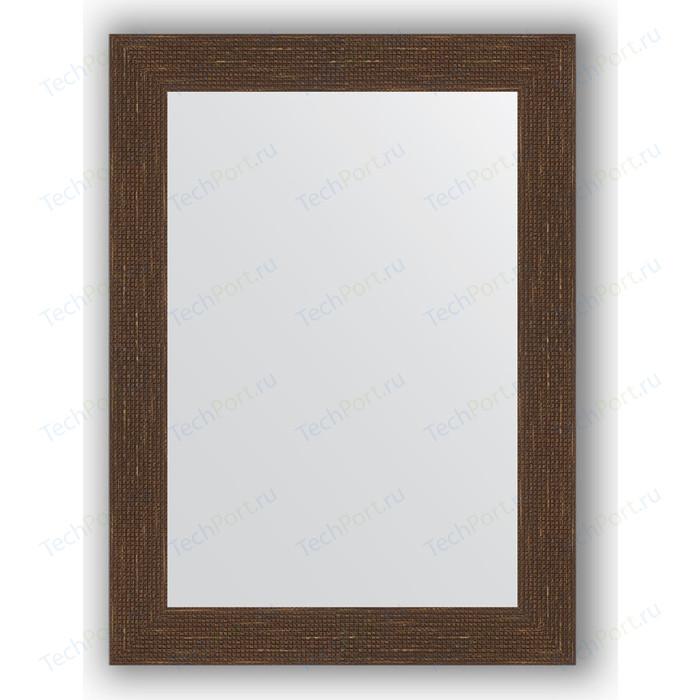 Фото - Зеркало в багетной раме поворотное Evoform Definite 56x76 см, мозаика античная медь 70 мм (BY 3049) зеркало в багетной раме поворотное evoform definite 56x76 см соты медь 70 мм by 3050