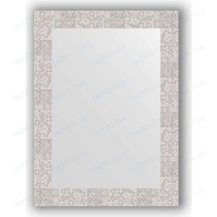 Фото - Зеркало в багетной раме поворотное Evoform Definite 56x76 см, соты алюминий 70 мм (BY 3051) зеркало в багетной раме поворотное evoform definite 56x76 см соты медь 70 мм by 3050