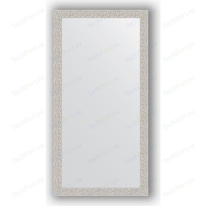 Фото - Зеркало в багетной раме поворотное Evoform Definite 51x101 см, мозаика хром 46 мм (BY 3068) зеркало в багетной раме поворотное evoform definite 51x101 см волна алюминий 46 мм by 3070