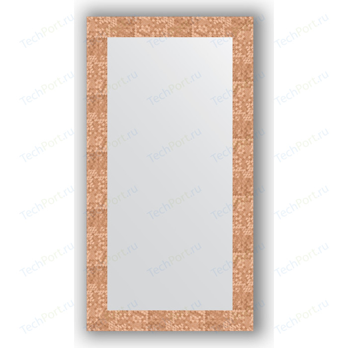 Фото - Зеркало в багетной раме поворотное Evoform Definite 56x106 см, соты медь 70 мм (BY 3082) зеркало в багетной раме поворотное evoform definite 56x76 см соты медь 70 мм by 3050