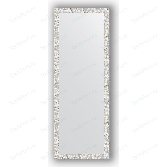 Зеркало в багетной раме поворотное Evoform Definite 51x141 см, чеканка белая 46 мм (BY 3098) зеркало в багетной раме поворотное evoform definite 51x141 см волна алюминий 46 мм by 3102