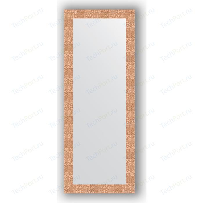 Фото - Зеркало в багетной раме поворотное Evoform Definite 56x146 см, соты медь 70 мм (BY 3114) зеркало в багетной раме поворотное evoform definite 56x76 см соты медь 70 мм by 3050