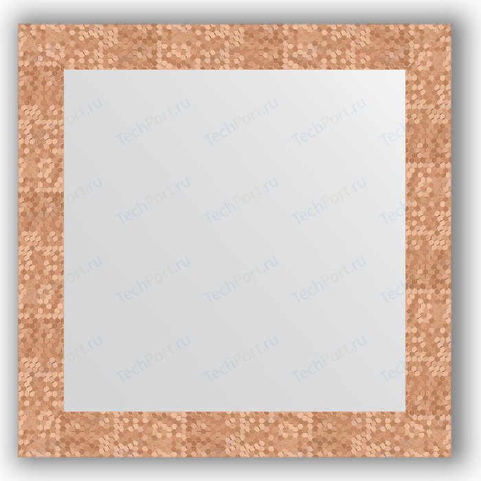 Фото - Зеркало в багетной раме Evoform Definite 66x66 см, соты медь 70 мм (BY 3146) зеркало в багетной раме поворотное evoform definite 56x76 см соты медь 70 мм by 3050