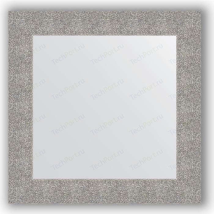 Фото - Зеркало в багетной раме Evoform Definite 70x70 см, чеканка серебряная 90 мм (BY 3151) зеркало 70х70 см чеканка серебряная evoform definite by 3151