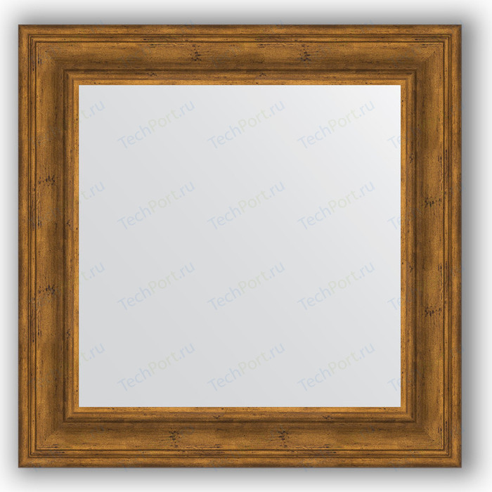 Зеркало в багетной раме Evoform Definite 72x72 см, травленая бронза 99 мм (BY 3157)
