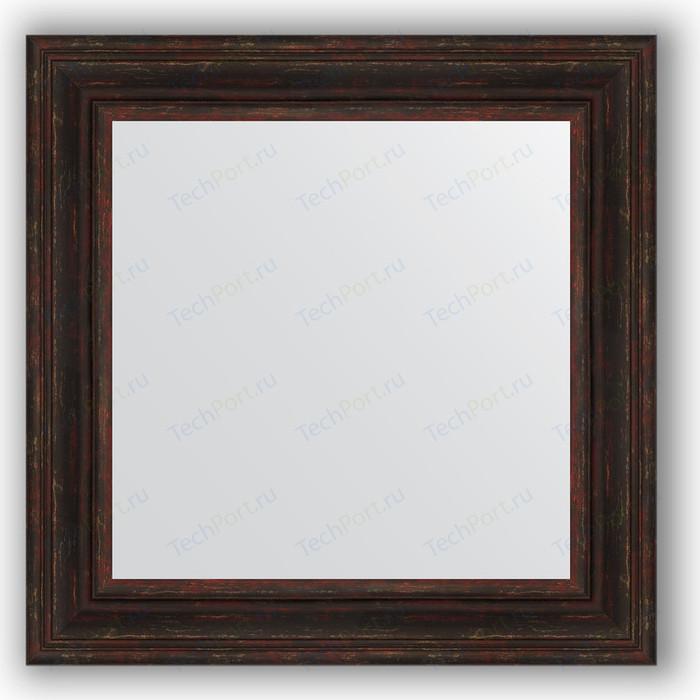 Зеркало в багетной раме Evoform Definite 72x72 см, темный прованс 99 мм (BY 3158)