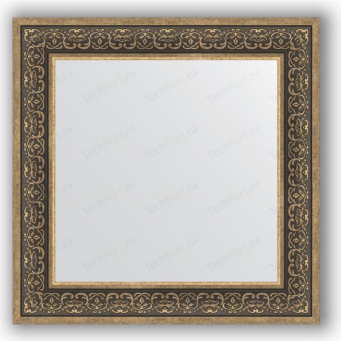 Зеркало в багетной раме Evoform Definite 73x73 см, вензель серебряный 101 мм (BY 3160) зеркало в багетной раме evoform definite 73x73 см слоновая кость 51 мм by 1025