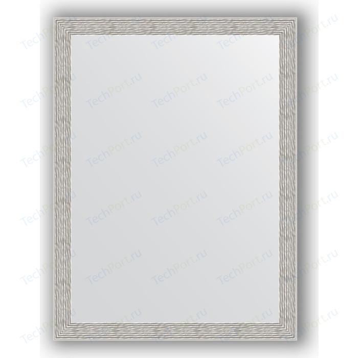 Зеркало в багетной раме поворотное Evoform Definite 61x81 см, волна алюминий 46 мм (BY 3166) зеркало в багетной раме поворотное evoform definite 51x141 см волна алюминий 46 мм by 3102