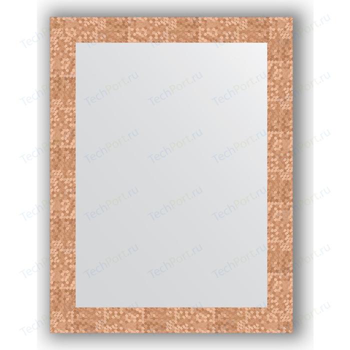 Зеркало в багетной раме поворотное Evoform Definite 66x86 см, соты медь 70 мм (BY 3178)
