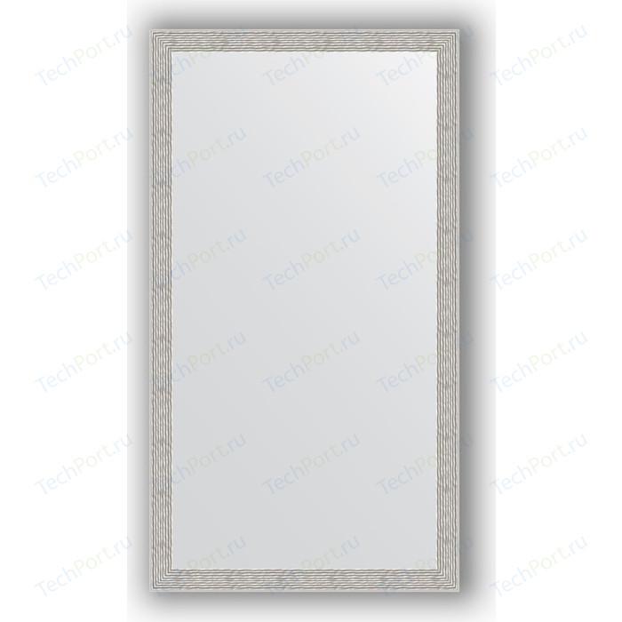 Зеркало в багетной раме поворотное Evoform Definite 61x111 см, волна алюминий 46 мм (BY 3198) зеркало в багетной раме поворотное evoform definite 51x141 см волна алюминий 46 мм by 3102