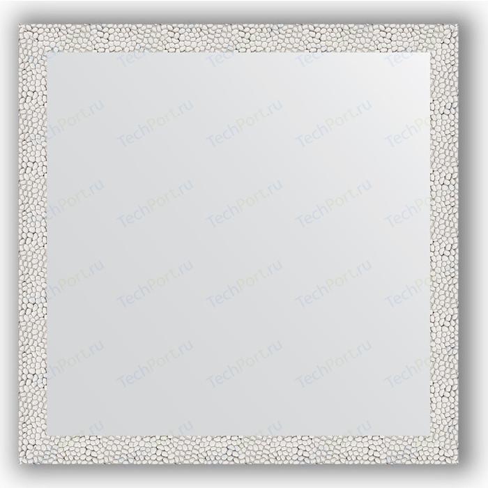Зеркало в багетной раме Evoform Definite 71x71 см, чеканка белая 46 мм (BY 3226)