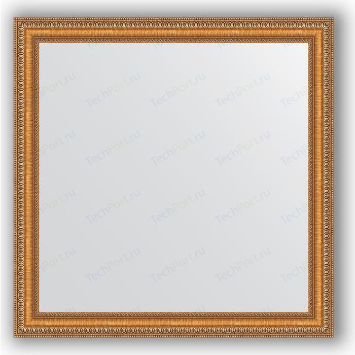 Зеркало в багетной раме Evoform Definite 75x75 см, золотые бусы на бронзе 60 мм (BY 3234)