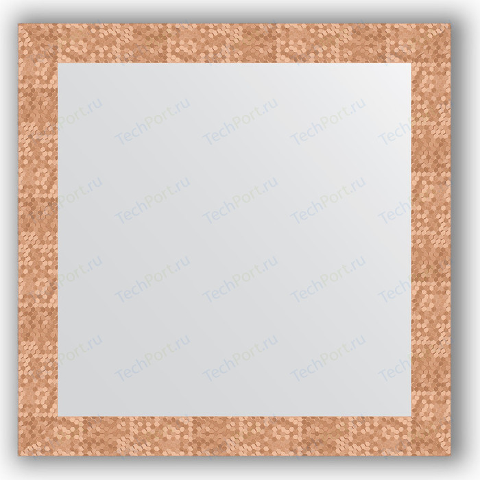 Зеркало в багетной раме Evoform Definite 76x76 см, соты медь 70 мм (BY 3242)