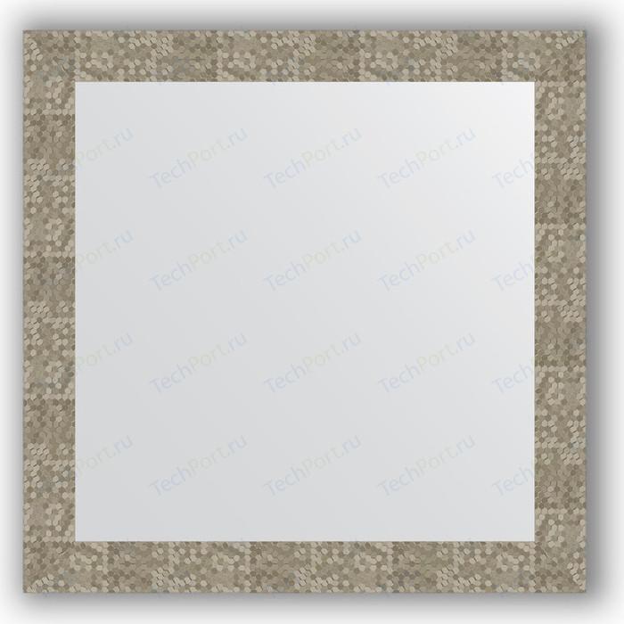 Зеркало в багетной раме Evoform Definite 76x76 см, соты титан 70 мм (BY 3244)
