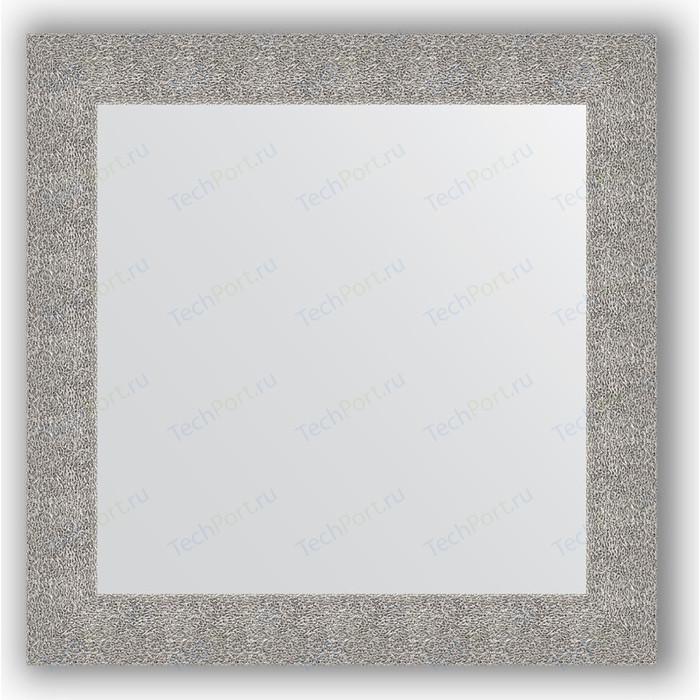 Фото - Зеркало в багетной раме Evoform Definite 80x80 см, чеканка серебряная 90 мм (BY 3247) зеркало 70х70 см чеканка серебряная evoform definite by 3151