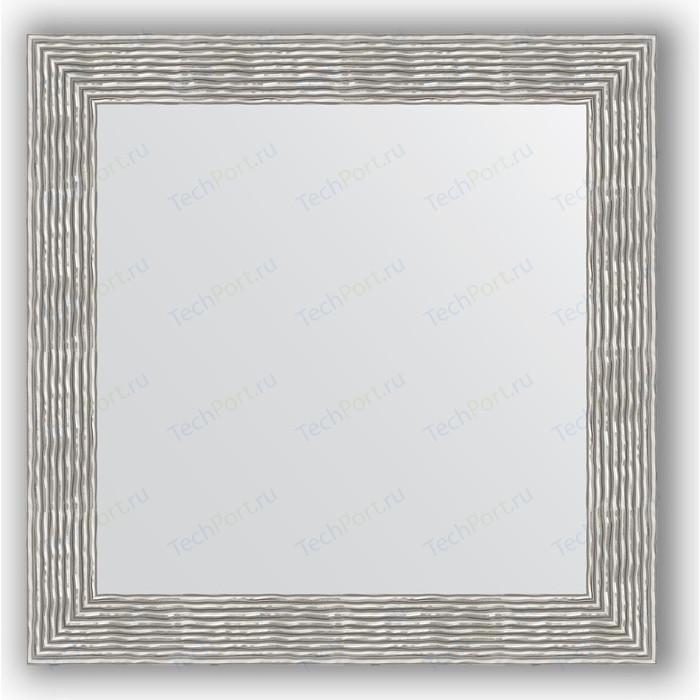 Зеркало в багетной раме Evoform Definite 80x80 см, волна хром 90 мм (BY 3249)