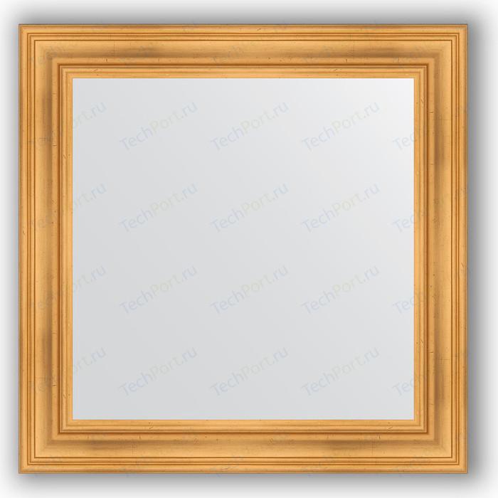 Зеркало в багетной раме Evoform Definite 82x82 см, травленое золото 99 мм (BY 3251)