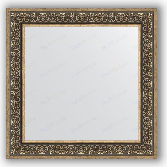 Зеркало в багетной раме Evoform Definite 83x83 см, вензель серебряный 101 мм (BY 3256)