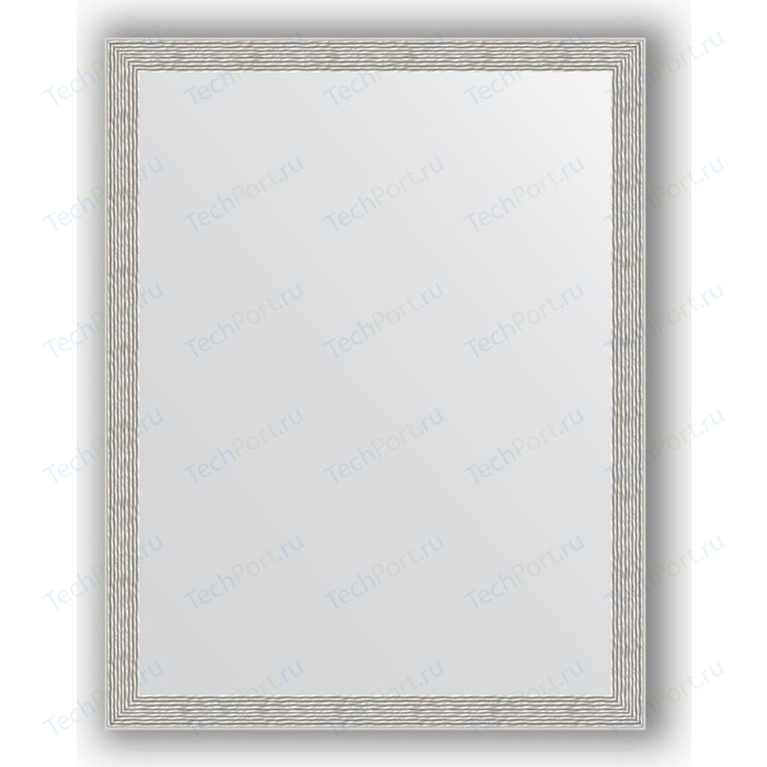 Зеркало в багетной раме поворотное Evoform Definite 71x91 см, волна алюминий 46 мм (BY 3262)