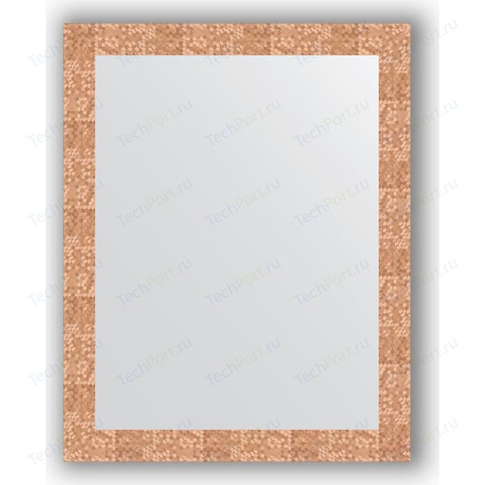 Зеркало в багетной раме поворотное Evoform Definite 76x96 см, соты медь 70 мм (BY 3274)