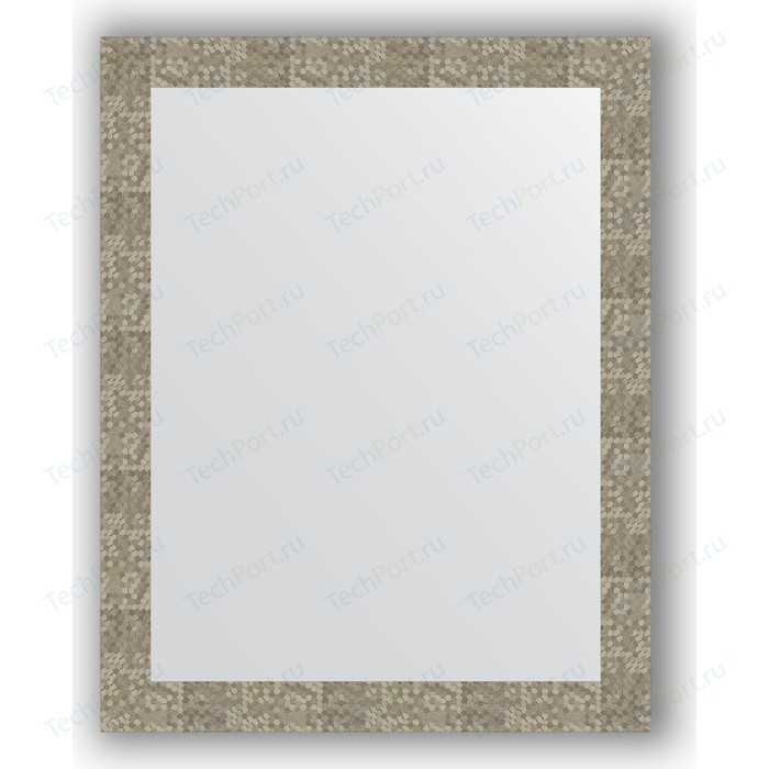 Зеркало в багетной раме поворотное Evoform Definite 76x96 см, соты титан 70 мм (BY 3276)