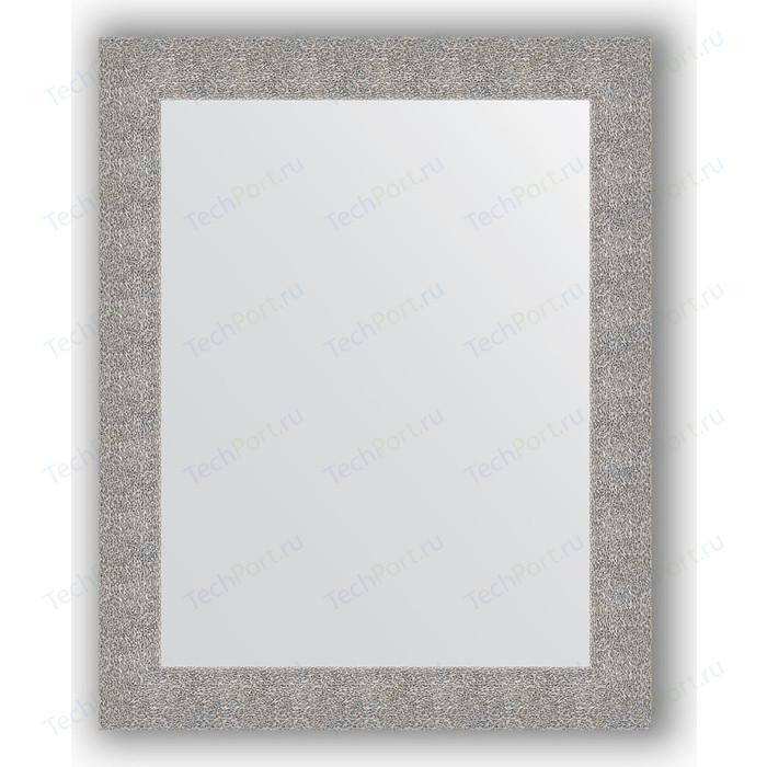 Фото - Зеркало в багетной раме поворотное Evoform Definite 80x100 см, чеканка серебряная 90 мм (BY 3279) зеркало 70х70 см чеканка серебряная evoform definite by 3151