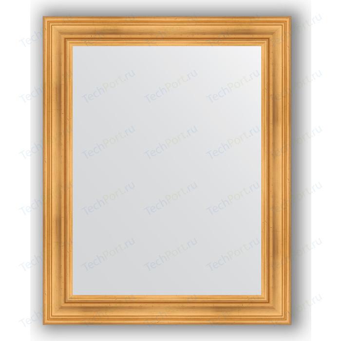 Фото - Зеркало в багетной раме поворотное Evoform Definite 82x102 см, травленое золото 99 мм (BY 3283) зеркало в багетной раме поворотное evoform definite 82x102 см травленое серебро 99 мм by 3284