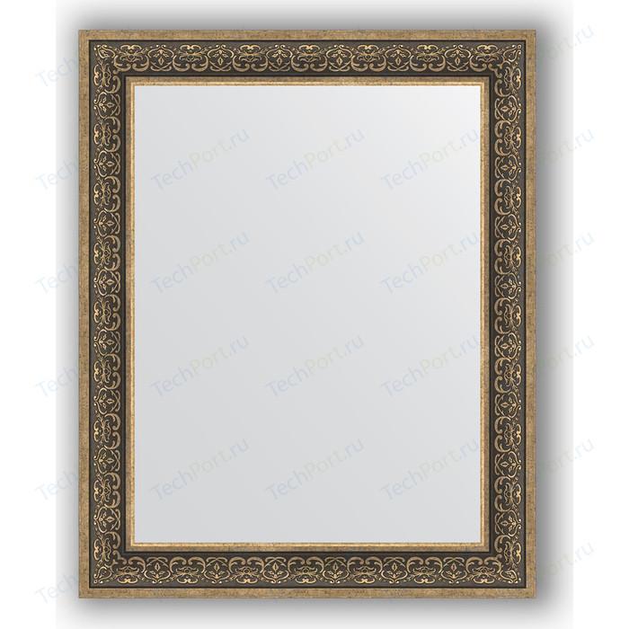 Зеркало в багетной раме поворотное Evoform Definite 83x103 см, вензель серебряный 101 мм (BY 3288)