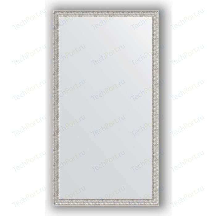 Зеркало в багетной раме поворотное Evoform Definite 71x131 см, волна алюминий 46 мм (BY 3294) зеркало в багетной раме поворотное evoform definite 51x141 см волна алюминий 46 мм by 3102