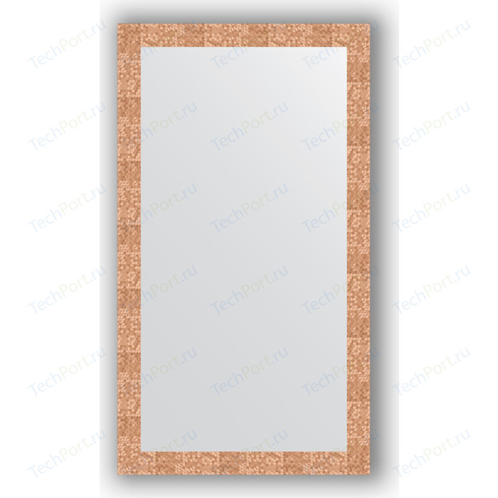 Фото - Зеркало в багетной раме поворотное Evoform Definite 76x136 см, соты медь 70 мм (BY 3306) зеркало в багетной раме поворотное evoform definite 56x76 см соты медь 70 мм by 3050