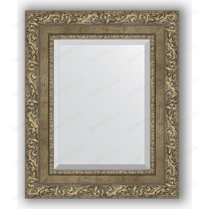 Зеркало с фацетом в багетной раме Evoform Exclusive 45x55 см, виньетка античная латунь 85 мм (BY 3359)