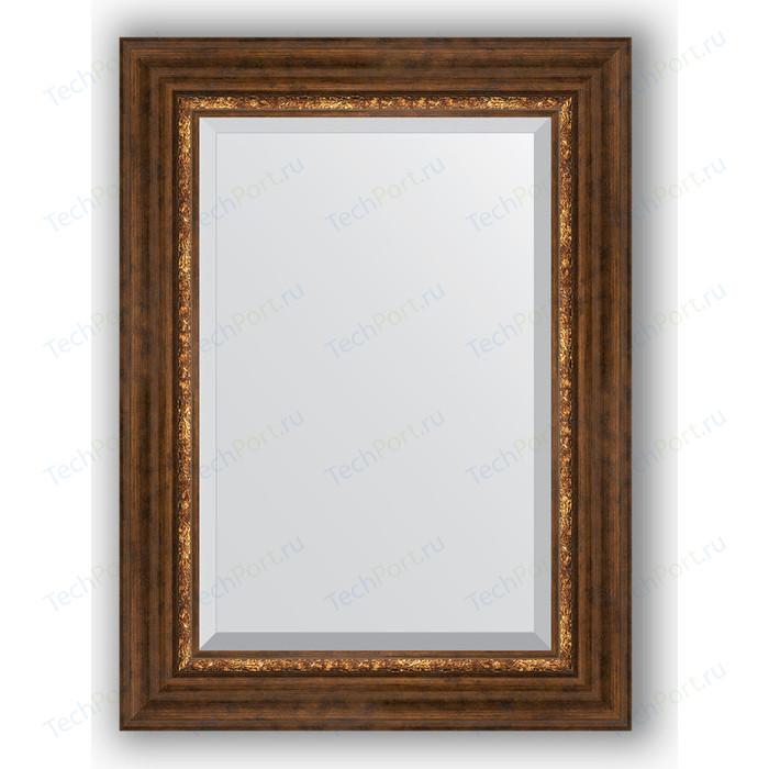 Зеркало с фацетом в багетной раме поворотное Evoform Exclusive 56x76 см, римская бронза 88 мм (BY 3387)