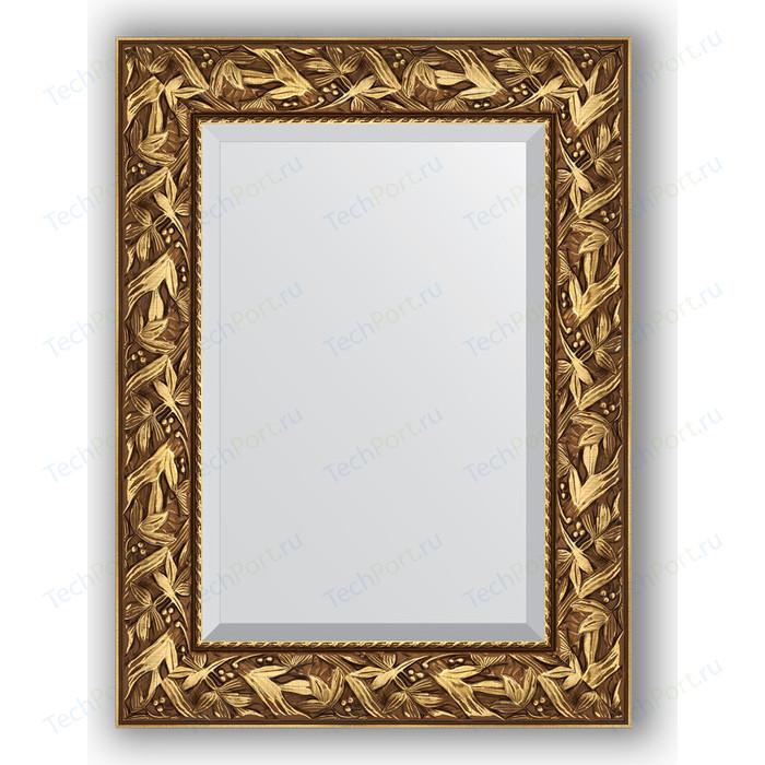 Зеркало с фацетом в багетной раме поворотное Evoform Exclusive 59x79 см, византия золото 99 мм (BY 3389)