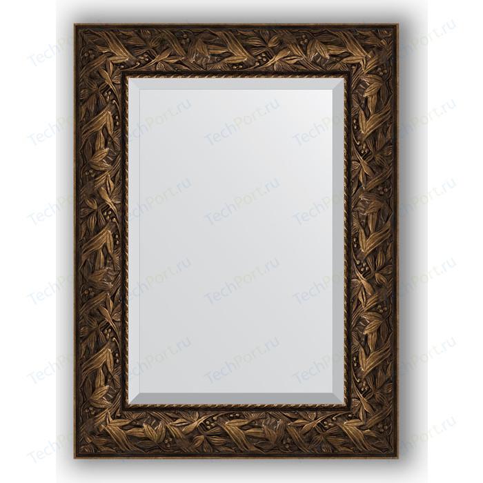 Зеркало с фацетом в багетной раме поворотное Evoform Exclusive 59x79 см, византия бронза 99 мм (BY 3391)