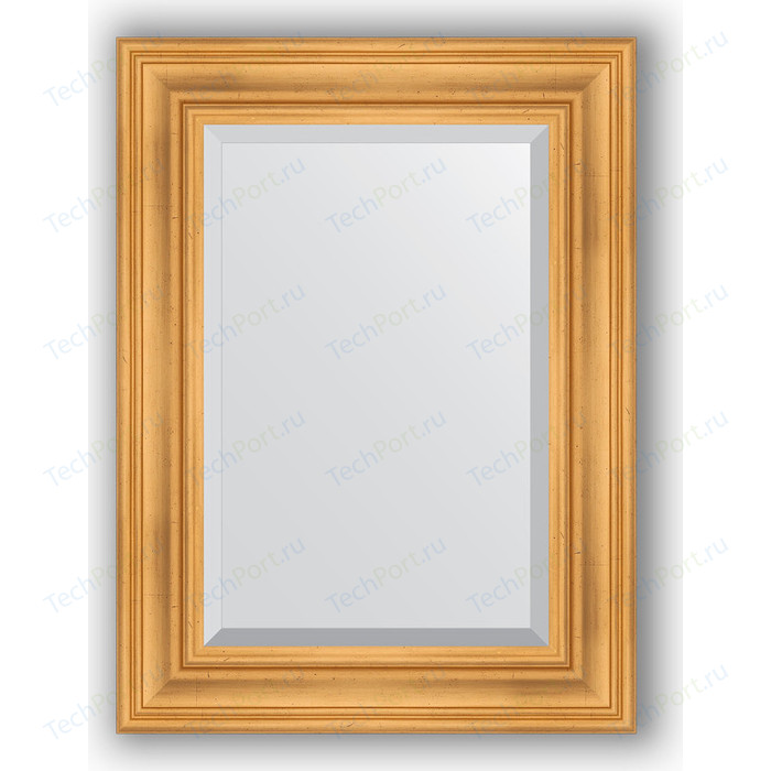 Зеркало с фацетом в багетной раме поворотное Evoform Exclusive 59x79 см, травленое золото 99 мм (BY 3392)