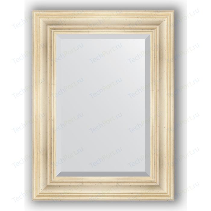 Зеркало с фацетом в багетной раме поворотное Evoform Exclusive 59x79 см, травленое серебро 99 мм (BY 3393)