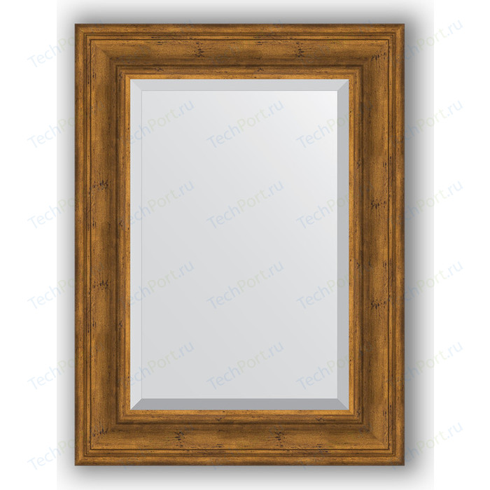 Зеркало с фацетом в багетной раме поворотное Evoform Exclusive 59x79 см, травленая бронза 99 мм (BY 3394)