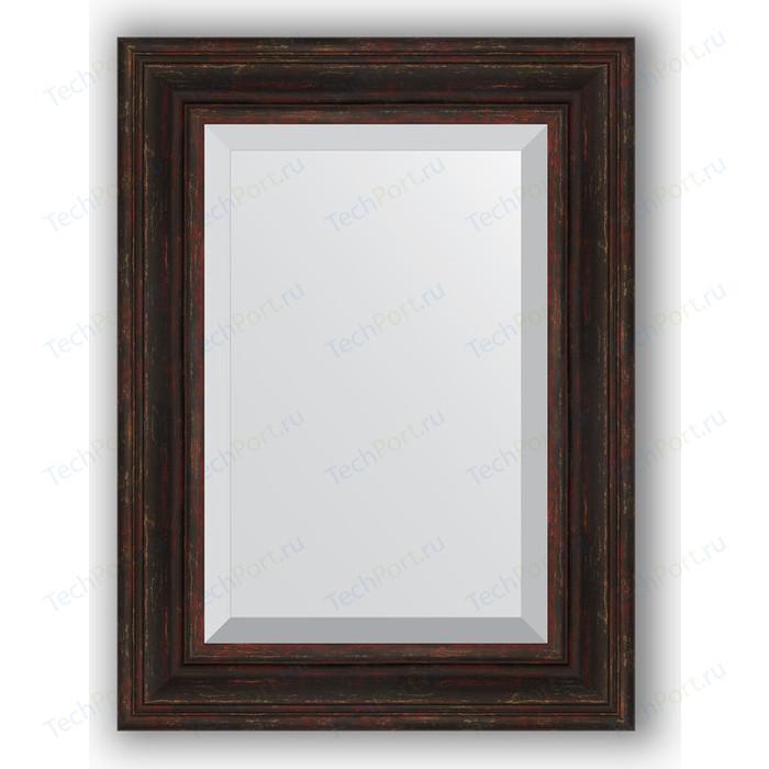 Зеркало с фацетом в багетной раме поворотное Evoform Exclusive 59x79 см, темный прованс 99 мм (BY 3395)
