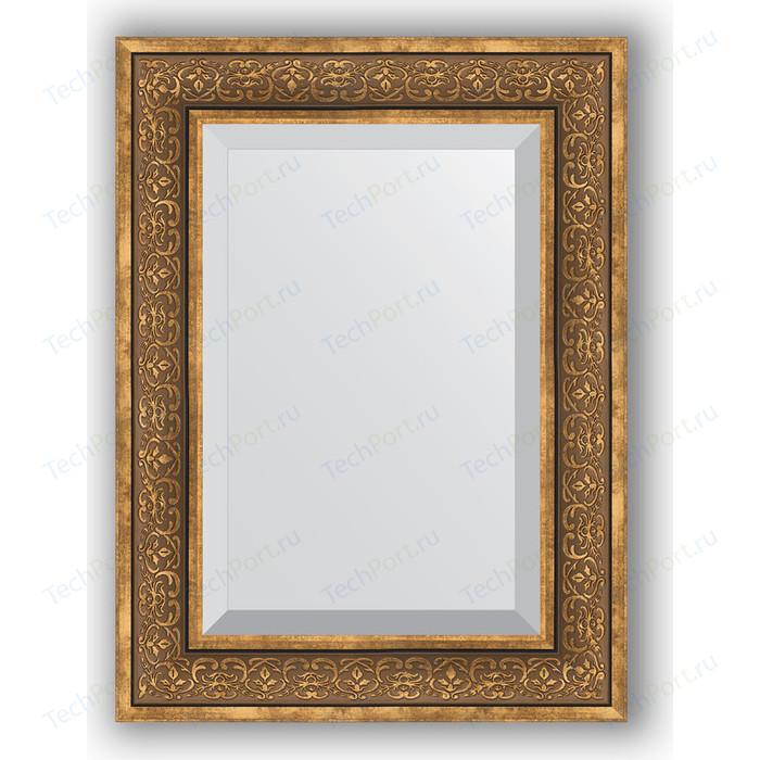 Зеркало с фацетом в багетной раме поворотное Evoform Exclusive 59x79 см, вензель бронзовый 101 мм (BY 3396)