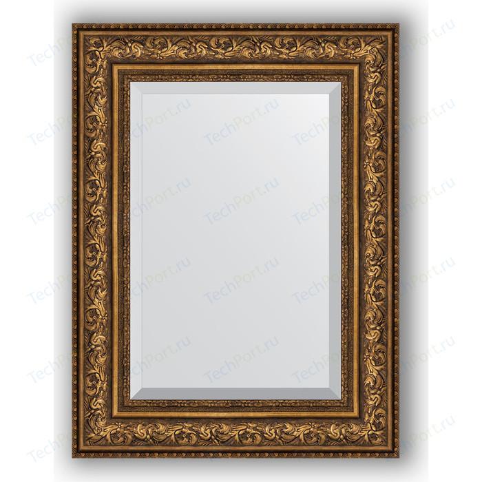Зеркало с фацетом в багетной раме поворотное Evoform Exclusive 60x80 см, виньетка состаренная бронза 109 мм (BY 3401) зеркало с фацетом в багетной раме evoform exclusive 60x80 см виньетка состаренная бронза 109 мм by 3401
