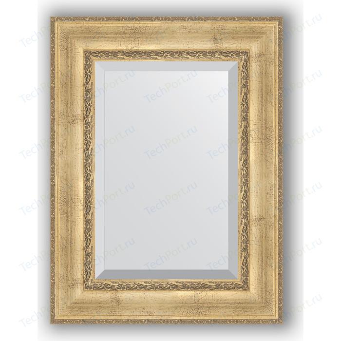 Зеркало с фацетом в багетной раме поворотное Evoform Exclusive 62x82 см, состаренное серебро орнаментом 120 мм (BY 3402)