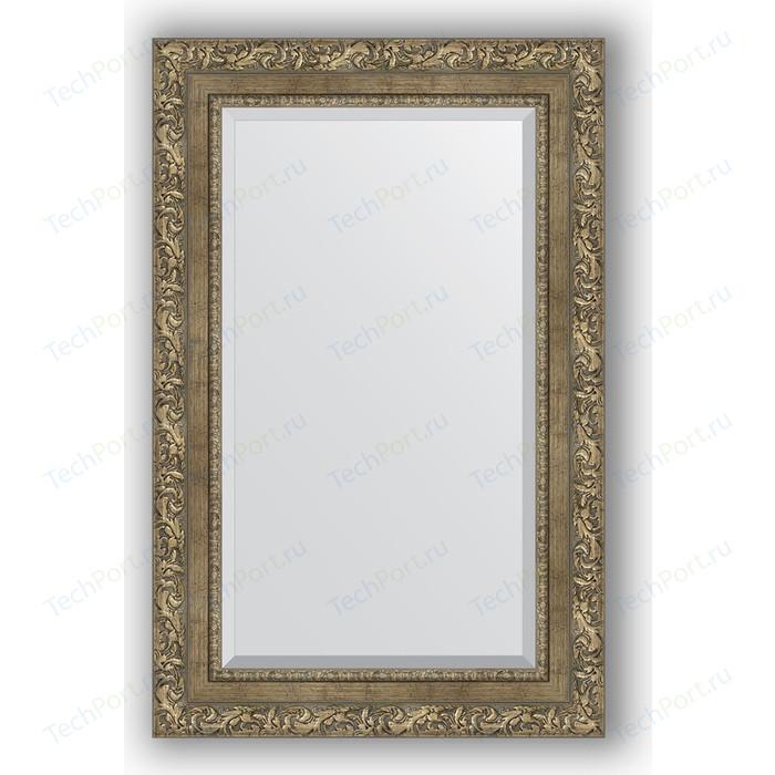 Зеркало с фацетом в багетной раме поворотное Evoform Exclusive 55x85 см, виньетка античная латунь 85 мм (BY 3411)