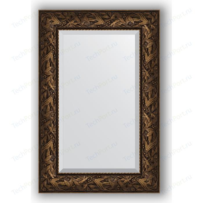 Зеркало с фацетом в багетной раме поворотное Evoform Exclusive 59x89 см, византия бронза 99 мм (BY 3417)