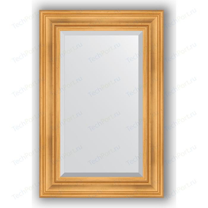 Зеркало с фацетом в багетной раме поворотное Evoform Exclusive 59x89 см, травленое золото 99 мм (BY 3418)