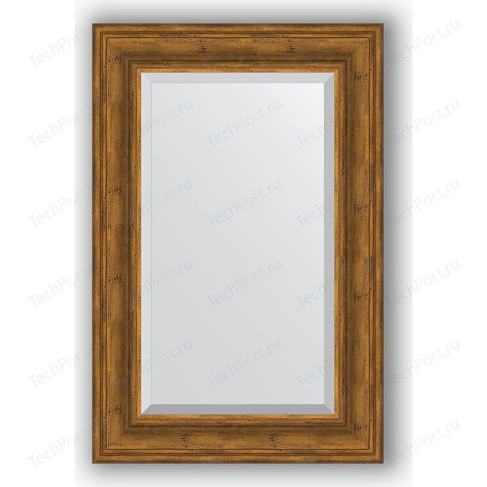 Зеркало с фацетом в багетной раме поворотное Evoform Exclusive 59x89 см, травленая бронза 99 мм (BY 3420)