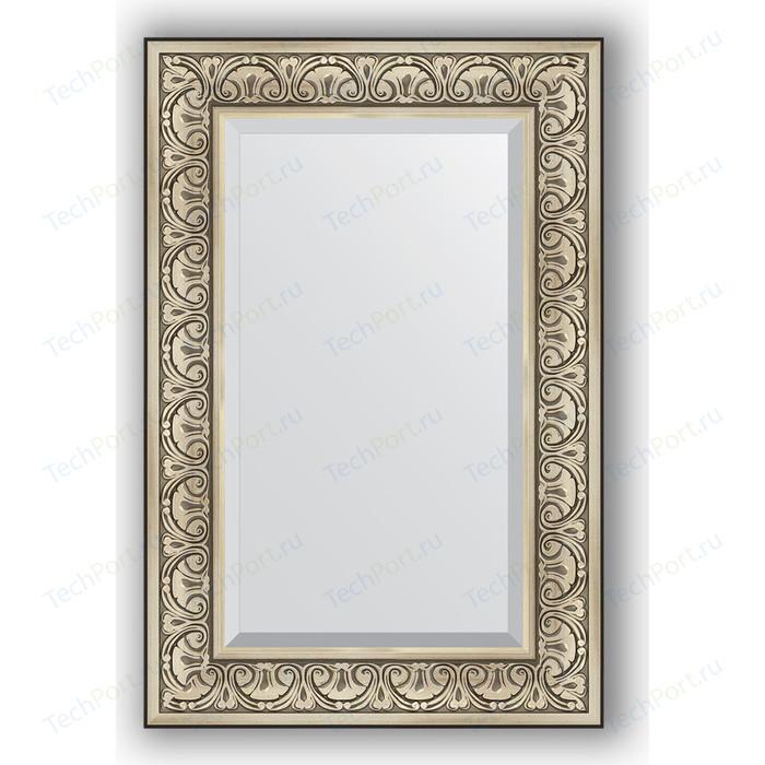 Зеркало с фацетом в багетной раме поворотное Evoform Exclusive 60x90 см, барокко серебро 106 мм (BY 3424)